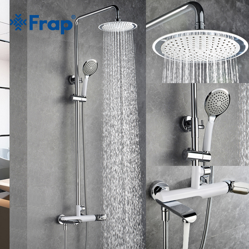 frap new bathroom shower faucet set bathtub faucets shower mixer tap bath shower taps waterfall. Black Bedroom Furniture Sets. Home Design Ideas