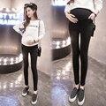 Mulheres grávidas leggings de película fina com edição han calças de grávida mulheres na primavera e no outono o desgaste externo calças pant