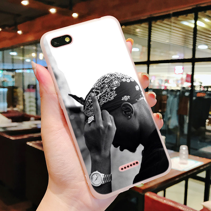 Silicone Phone Case 2Pac Tupac Amaru Shakur for Xiaomi Redmi S2 Note 4 4X 5 5Pro 5A Plus 6 6A 7 Pro Cover in Fitted Cases from Cellphones Telecommunications