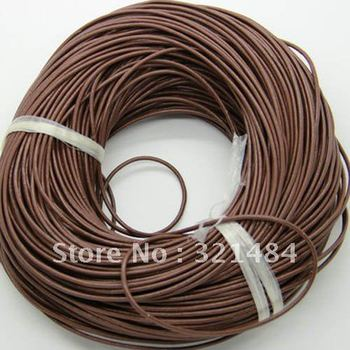 Hotsale!!! 1.5mm 100meter #27 Coffe Color (more color can pick up) Jewelry real guniune round leather cord rope and string