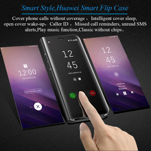 Flip Cover Case for Huawei P20 Mate 10 Pro 9 8 P10 Plus P9 Honor Lite Mirror Smart Clear View