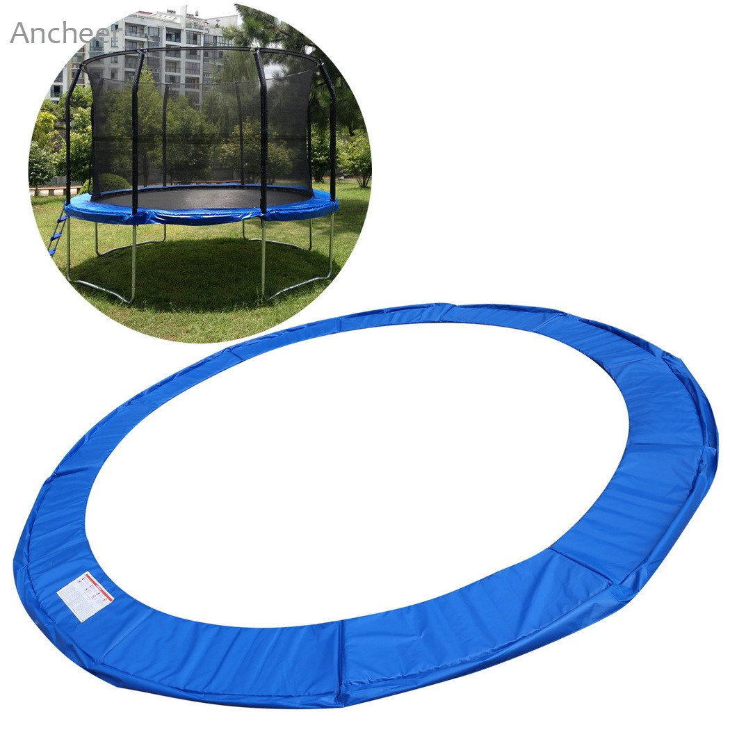 Safety Round Frame Blue Pad Spring Pad Replacement Cover: 15mm Safety Pad Trampoline Pad Cover Spring Round Frame