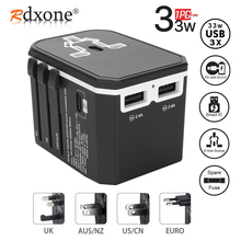 Rdxone Universal Travel Adaptor All in one Power Adapter wall Electric Plugs Soc