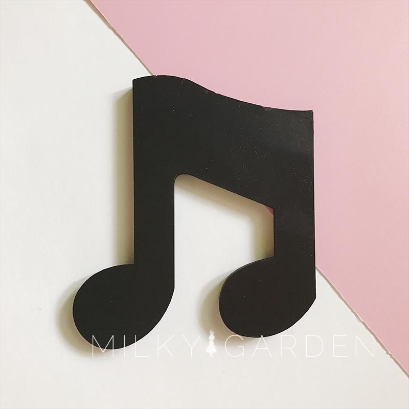 Wood Musical Note Wall Decoration Craft Bar Home Children's Clothing Store Decorative Ornament Nordic Modern Home Decor