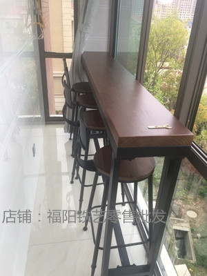 Aliexpress Buy Wrought iron bar table long table against the wall long bar tables tall bar stool bar chairs bar tables and chairs customized hi from