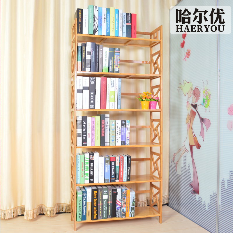 solid wood shelf bookcase child bookcase free combination of