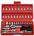 46 piece set auto sleeve combination tool screwdriver ratchet wrench set car with the car repair tool