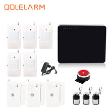 quad band wi-fi/wired GSM house safety alarm techniques wired siren package SIM sms alarm Spanish Russian English vioce immediate