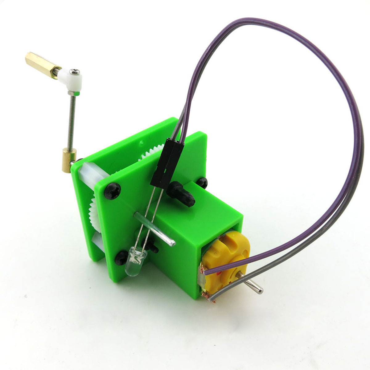 DIY Hand Crank Dynamo Generation Handmade Toy Creative Simple Physics Teaching Resources Kids Early Education Science Experiment