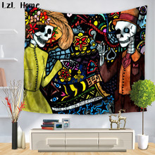 LzL Home Psychedelic National Features Tapestry Mandala Hippie Boho Wall Hanging Tapete Dorm Art Yoga Mat Ceilings Rug