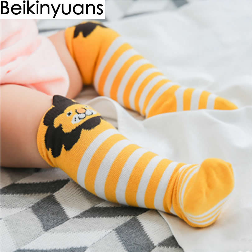 d2a92dd64b0 Baby Socks Winter Cotton Knee High Girls Socks Children Three Dimensional  Panda Print Loose Tube Baby Knee Socks Fashion-in Socks from Mother   Kids  on ...