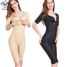 Wechery Shaperผู้หญิงBindersและShapers FullความยาวMidi Sleeve Shapewear Slimming BodysuitหญิงFaja 40 100kg 3XL