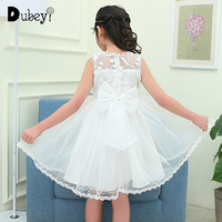 Summer Lace Sundress Teenager Girl Princess Dress Elegant Evening Prom Dress for 4 10 Years Old Flower Girl Tutu Dress