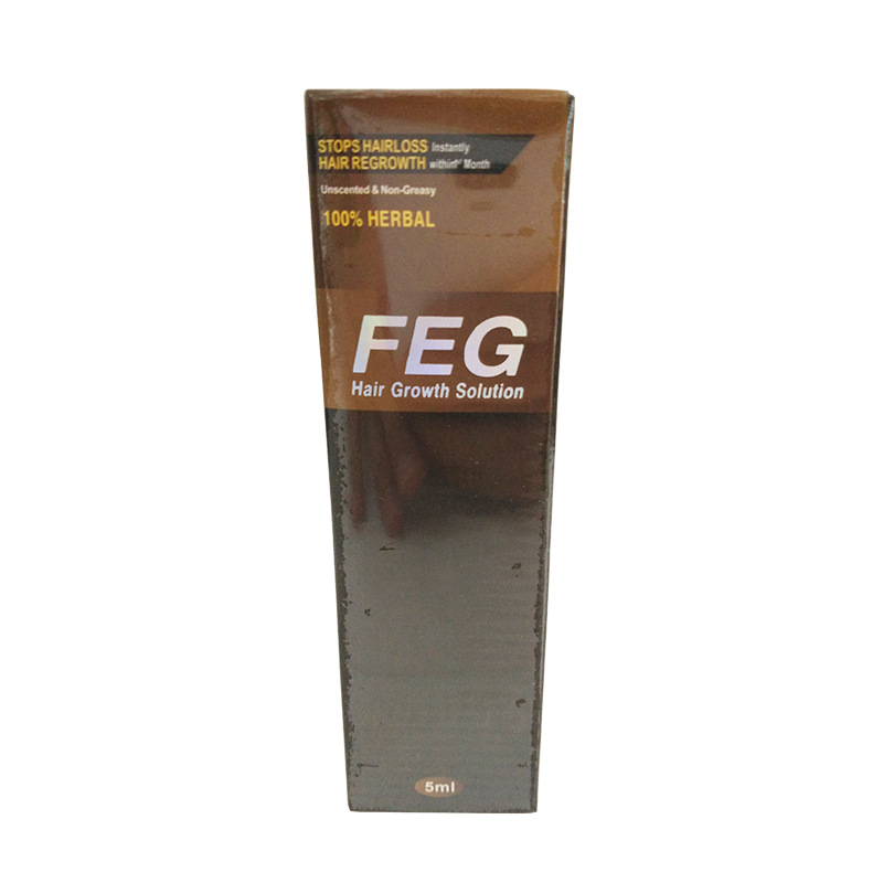 FEG Hair Growth Solution Hair Growth Preparations , Increase Hair Growth Natural Chinese Herbal Ingredients 5ml