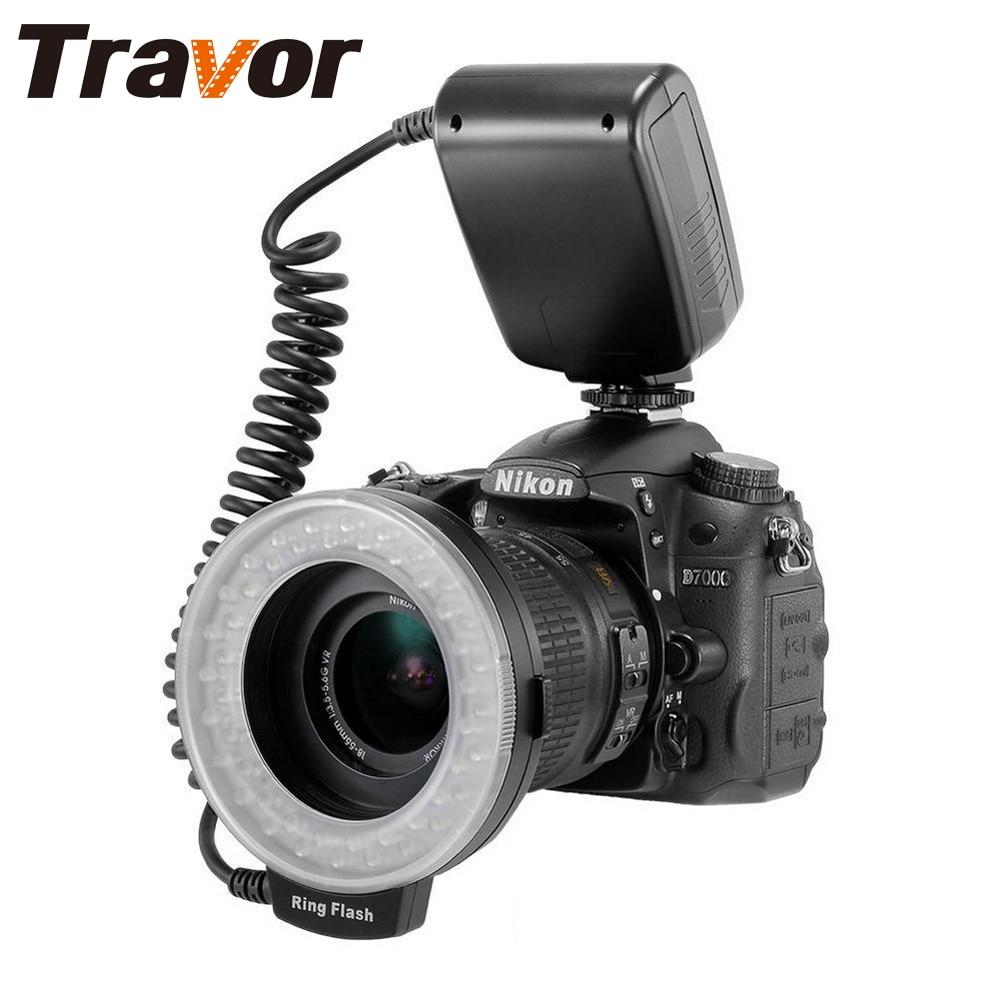Travor RF 550D LED Macro Ring Flash light with 8 adapter ring For Nikon Canon Panasonic Camera 1
