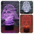 Creative Star Wars Darth Vader 3D Night Light Acrylic Colorful Gradient LED Desk Table Light Lamp black warrior