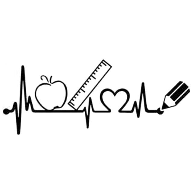 22 6cm 8 9cm Teacher Heartbeat Teaching Book Ruler Apple