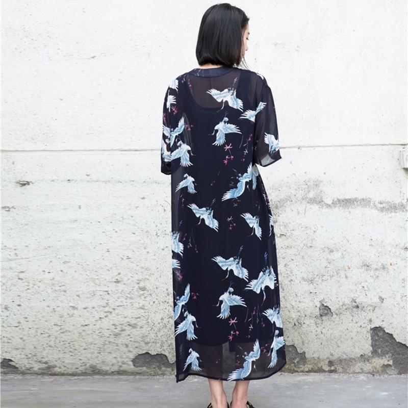 Japanese Kimono Yukata Kimono Cardigan Fashion Blouse Women 2019 Women Long Sleeve Cardigan Haori Traditional Kimonos FZ005