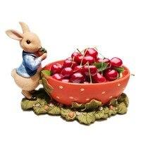 Strawberry Bunny Creative Fruit Bowl Cute Cartoon Children's Personality Snack Dry Dessert Fruit Plate Modern Home Decors