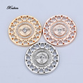 Coin Necklace pendants 33mm Disc Fit in Rhinestone Crystal Pendant Coin set 35mm frame