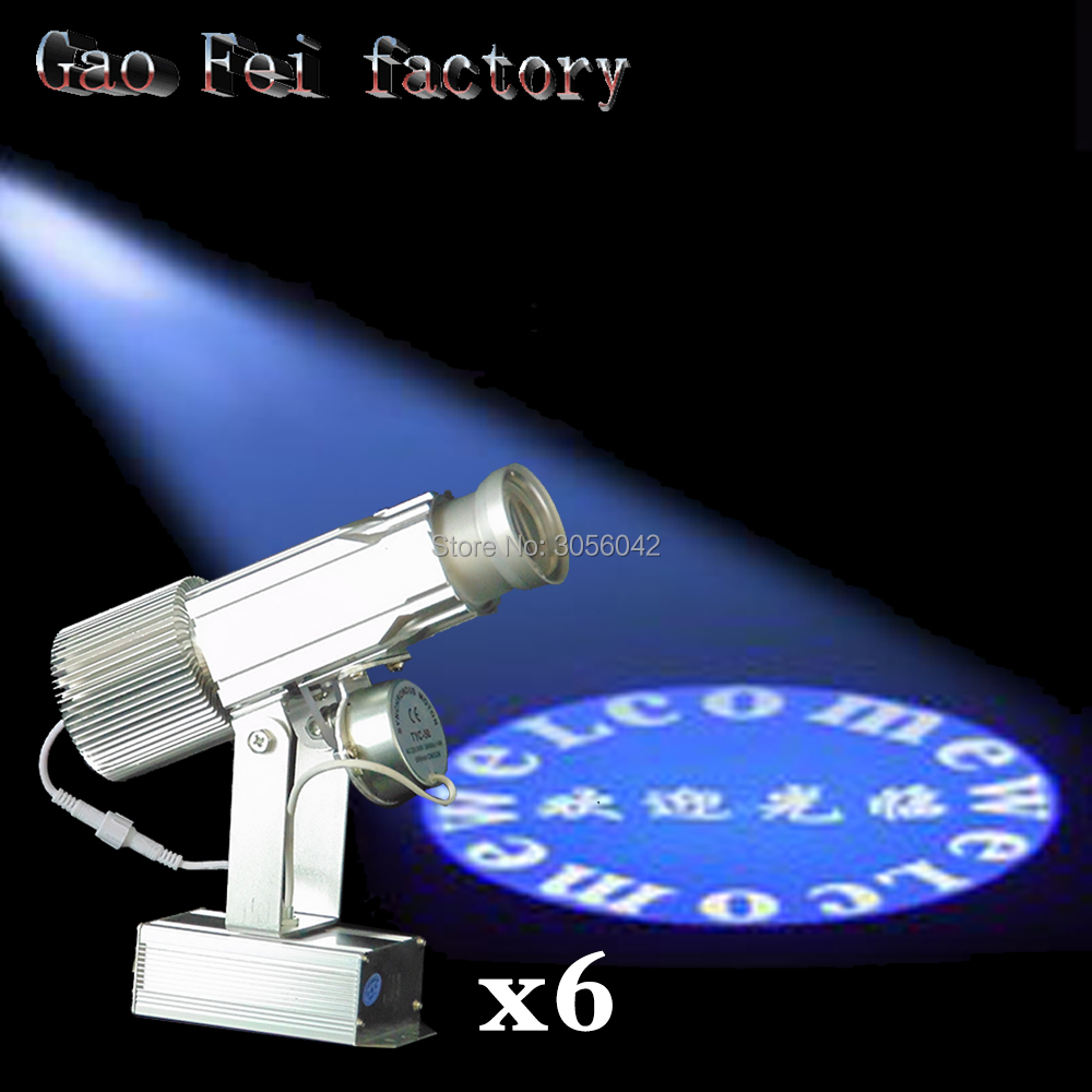 6PCSLOT Logo Projector 30W mini Light Custom Made Logo Lens Retail Shop Indicate Sign Instruct Notice Gobo Lens Party disco ktv
