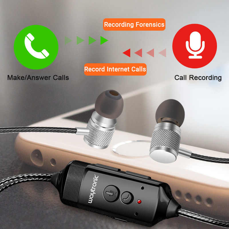 Cellphone Call Recorder Recordable In-ear Earphone for iPhone Phone  Conversation Recording Record Calls from Chat Software