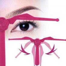 2 sztuk makijaż permanentny symetryczne regulacja brwi pomiaru kosmetyczne narzędzia do brwi