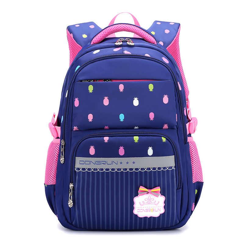 c815d42ee4be 2018 детская школьная сумка для девочек, детский Ранец, рюкзак для начальной  школы, ортопедический