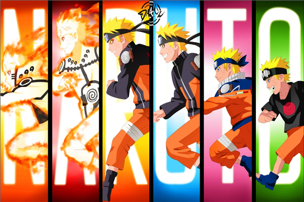New Arrival Cartoon Wallpapers Naruto Shippuden Animation Custom Canvas Posters Wall Stickers Kids Home Decor