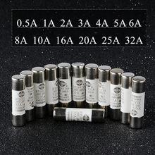 20 teil/los R015 Keramik Sicherung Zylindrischen schmelzsicherungen fusivel rohr 0,5 A-32A Niedrigen Spannung 10mm * 38mm Elektrische Ausrüstung liefert