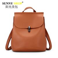 SUNNY SHOP Brand Women Backpack Fashion Design Preppy Style Lady Backpacks Cute Pu Leather Clutch Luxury