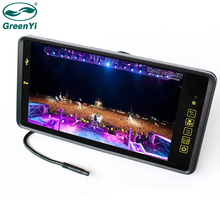 """GreenYi """" TFT lcd цветной 800*480 автомобильный монитор экран с дистанционной поддержкой 2CH видео вход MP5 USB SD карта для камеры заднего вида"""