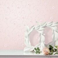 목회 핑크 꽃 벽지 3D 거품 양각