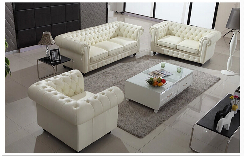 Charming U BEST Warren White Eather Modern Modular Sectional Sofa Set, Premium  Top Grain Leather Sofa, Living Room Furniture Collection