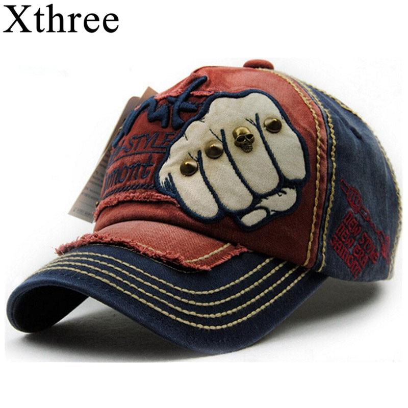 XTHREE unisex moda hombre gorra de béisbol mujeres snapback sombrero Algodón Casual gorras Verano otoño Sombrero para hombres tapa al por mayor