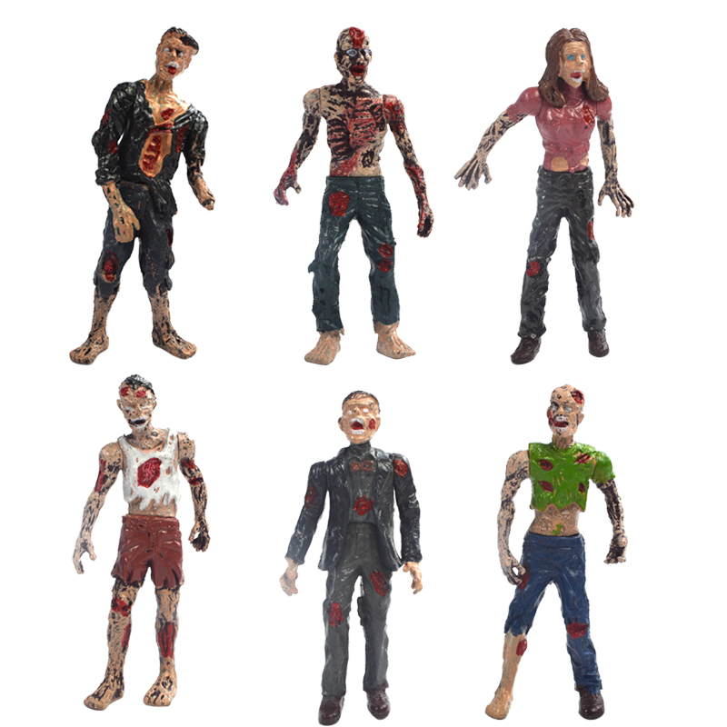 (6pcs/lot) Estartek Block Toys 3.75 Inch Walking Dead Zombie Set for Action Figure Collection and Holiday Gift | american girl doll