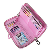 Браслет женский длинный клатч кошелек большой емкости кошельки женский кошелек на молнии ремень сумка для денег держатель для карт из искусственной кожи Carteras