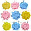 Children's tableware anti-drop dishes magic silicone suction cups multi-style multi-color selection 1pcs
