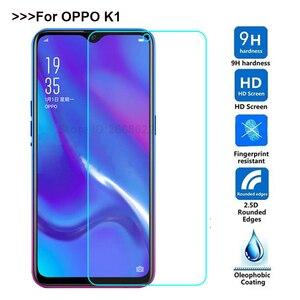 Закаленное стекло 9H 2.5D для OPPO K1, ультратонкая Защитная пленка для мобильного телефона Защитное стекло для телефона, для OPPO K1 K 1 6,4 дюйма