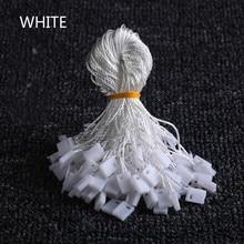 100 unids/lote Ropa Cuerda Etiqueta Negro Blanco Beige cordones de algodón colgando tabletas para bolsa de ropa etiquetas de tarjetas, accesorios de vestir de DIY