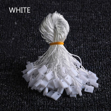 100pcs/lot Clothes Tag Rope White Black Beige cords cotton hanging tablets for garment bag tags cards, DIY clothing accessories
