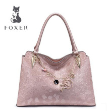 FOXER New women bag Quality Luxury genuine leather bag famous brands fashion women handbags Shoulder  Bag