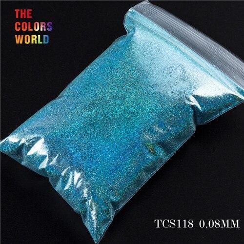 TCT-070 голографическая цветная устойчивая к растворению блестящая пудра для дизайна ногтей Гель-лак для ногтей тени для макияжа - Цвет: TCS118  200g