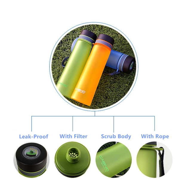 High Quality 1000ml Protable Water Bottles With Filter Outdoor Sports Healthy Plastic Space Bottles My Travel Bottle BPA Free 3