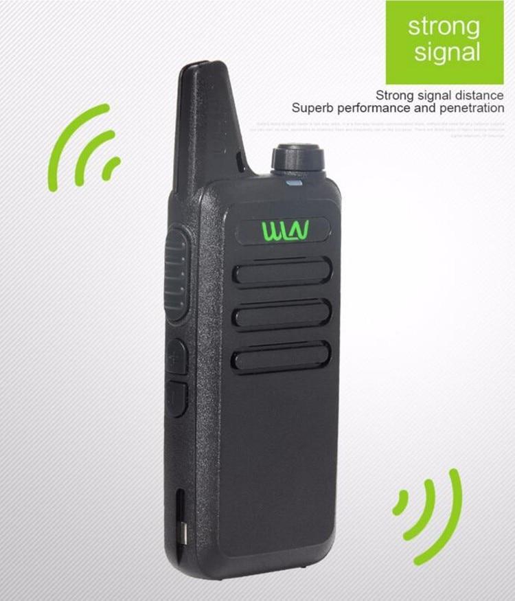 2pcs  Best Thin UHF 400-470Mhz Wireless Walkie Talkie WLN Kd-C1 With 5W Ham Radio Scanner Mini Mobile Two Way Radio Transceiver