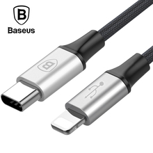 Baseus USB Type C to For iPhone Cable Adapter Nylon Braided Fast Data Sync Charger Type-c to Cable For iPhone Macbook Air Pro