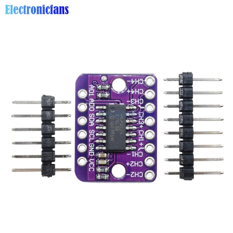 MCP3424 Digitale I2C ADC 4 Kanal Umwandlung Modul Für Raspberry Pi Für Arduino 2,7-5,5 V Programmierbare Verstärkung Verstärkung modul
