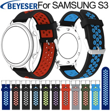 Sport Silicone Strap for Samsung Gear S3 S 3 Frontier/Classic band bracelet 22mm For Classic wrist bands replacement