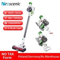 Proscenic P9 Vacuum Cleaner Cordless Stick Vacuum Power Suction 15000Pa Handheld Vacuum with LED Headlight 2 in 1 Vacuum