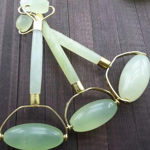 BellyLady Jade Massage Roller Facial Jade Face Eye Neck Massagem roller Promote Blood Circulation